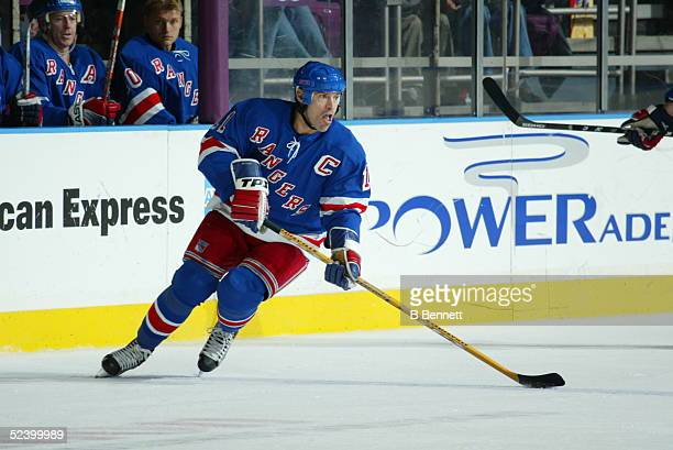 Player Mark Messier of the New York Rangers