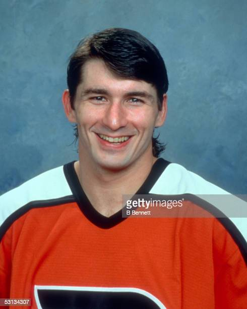 Player Peter White of the Philadelphia Flyers And Player Peter White