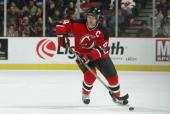 Player Scott Stevens of the New Jersey Devils