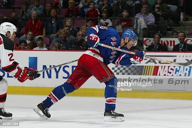 Player Sylvain Lefebvre of the New York Rangers