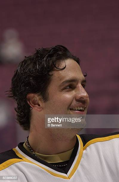 Player Travis Green of the Boston Bruins