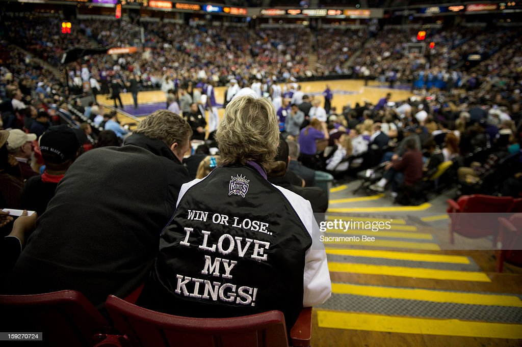 Season ticket holder Patti Anderson, 69, of Sacramento, says she loves the Kings and wishes the team will stay despite a change in ownership, during a game against the Dallas Mavericks on Thursday, January 10, 2013 at Sleep Train Arena in Sacramento, California.