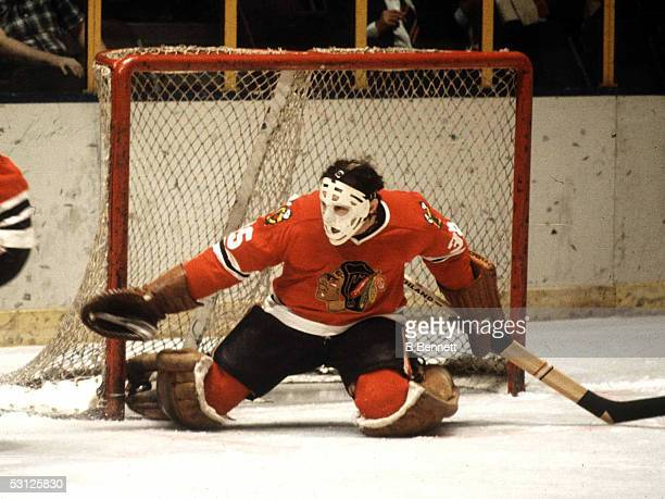Tony Esposito in goal during his playing days with Chicago