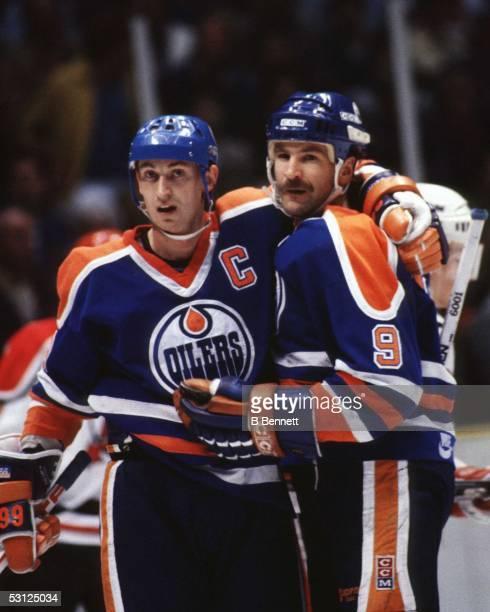 Wayne Gretzky and Glenn Anderson And Player Wayne Gretzky