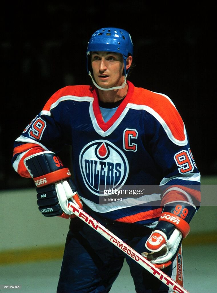 Wayne Gretzky with Edmonton