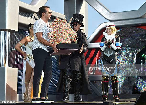 2016 Pictured Host Will Arnett presents the Trolli Award to the winner of the PaTrolli Cosplay Costume Contest