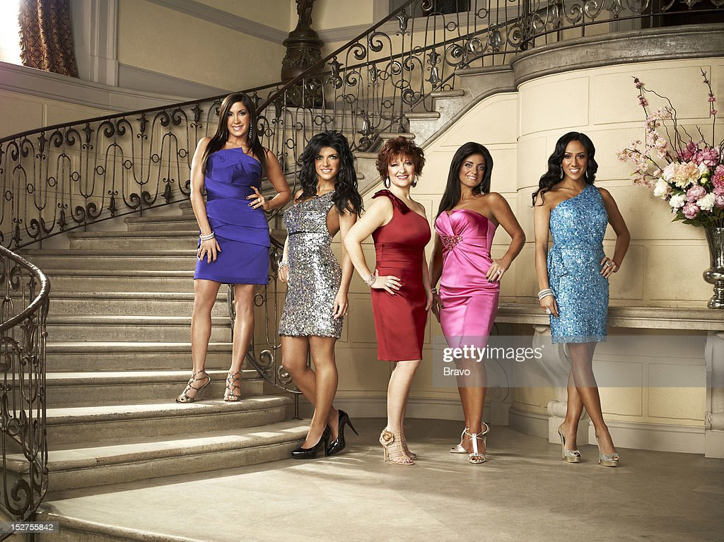 3 -- Pictured: (l-r) <a gi-track='captionPersonalityLinkClicked' href=/galleries/search?phrase=Jacqueline+Laurita&family=editorial&specificpeople=13618243 ng-click='$event.stopPropagation()'>Jacqueline Laurita</a>, <a gi-track='captionPersonalityLinkClicked' href=/galleries/search?phrase=Teresa+Giudice&family=editorial&specificpeople=5912953 ng-click='$event.stopPropagation()'>Teresa Giudice</a>, <a gi-track='captionPersonalityLinkClicked' href=/galleries/search?phrase=Caroline+Manzo&family=editorial&specificpeople=5841102 ng-click='$event.stopPropagation()'>Caroline Manzo</a>, <a gi-track='captionPersonalityLinkClicked' href=/galleries/search?phrase=Kathy+Wakile&family=editorial&specificpeople=7306776 ng-click='$event.stopPropagation()'>Kathy Wakile</a>, <a gi-track='captionPersonalityLinkClicked' href=/galleries/search?phrase=Melissa+Gorga&family=editorial&specificpeople=7306775 ng-click='$event.stopPropagation()'>Melissa Gorga</a> --
