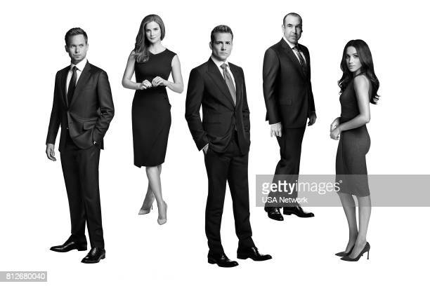 7 Pictured Patrick J Adams as Mike Ross Sarah Rafferty as Donna Paulsen Gabriel Macht as Harvey Specter Rick Hoffman as Louis Litt Meghan Markle as...