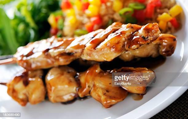 Des brochettes de poulet expérimenté