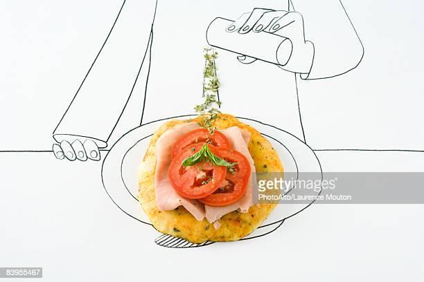 Seasoning chicken dish