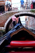 Seat In Boat On Canal Against Bridge