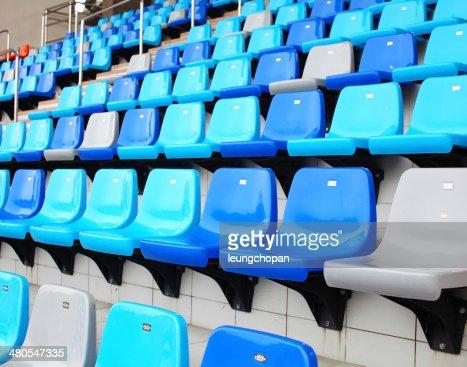 Seat in stadium : Stock Photo