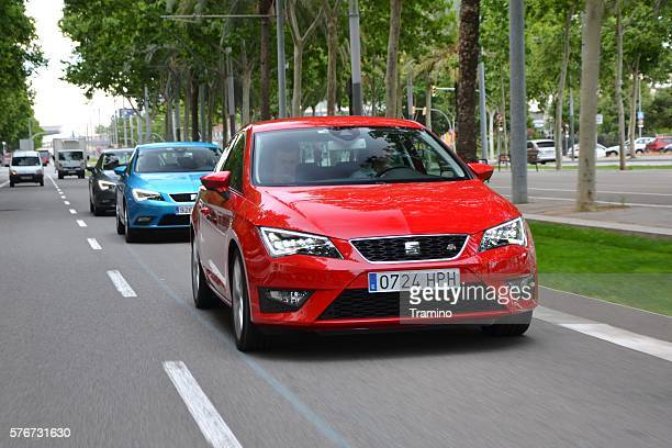 Seat Leon FR driving on the street