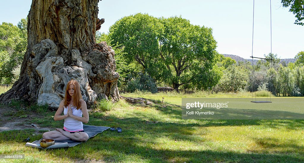Seated Meditation in Lotus Pose : Stock Photo