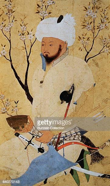 A Seated Prince by Aqa Riza