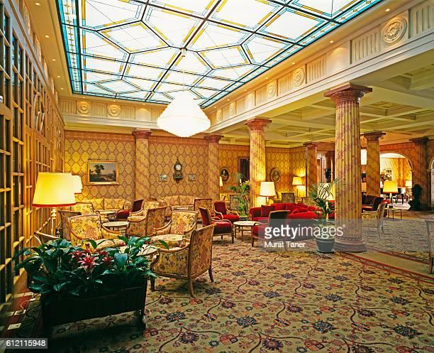 Seating Areas in Lobby of Kulm Hotel