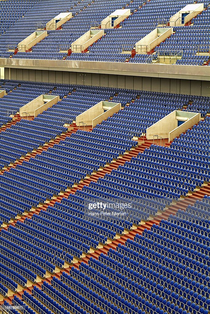 seating rows in stadium