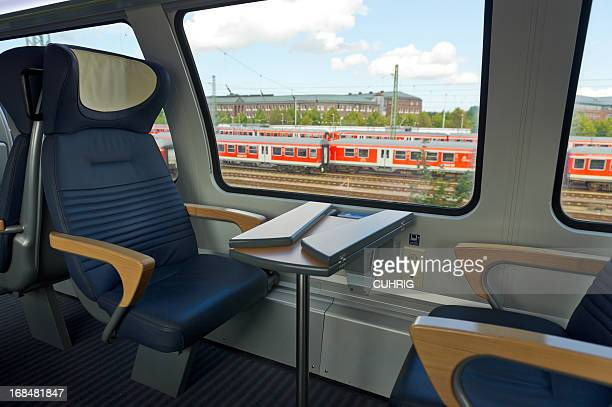 Seats and Table at window with view