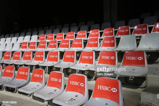 Seats during the 2017 HSBC Cape Town Sevens at Cape Town Stadium on December 10 2017 in Cape Town South Africa