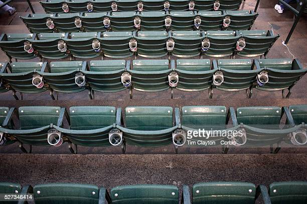 Seats during the Rochester Red Wings V The Scranton/WilkesBarre RailRiders Minor League ball game at Frontier Field Rochester New York State USA 16th...