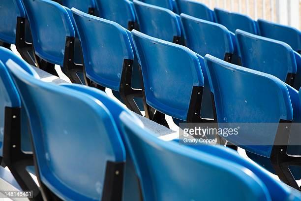 Seats in a sports stadium