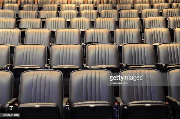 Places assises en configuration salle de théâtre/salle de conférence