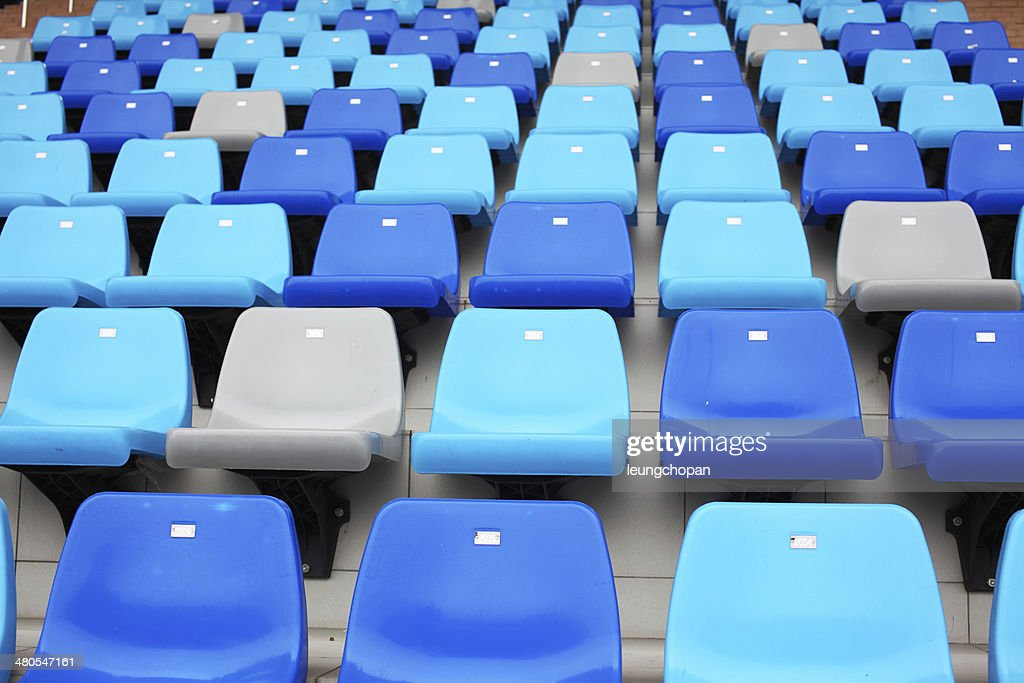 Seats in stadium : Stock Photo