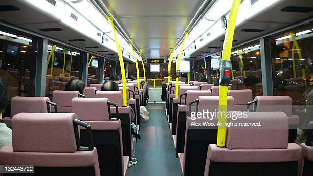 Seats of upper deck bus