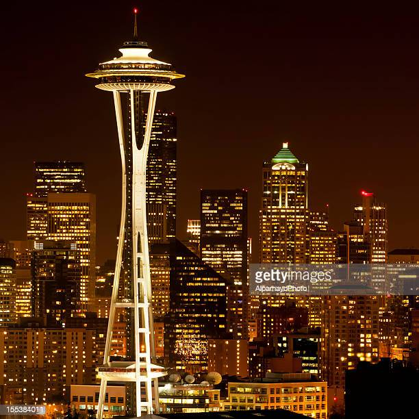 Seattle cityscape by night - IV