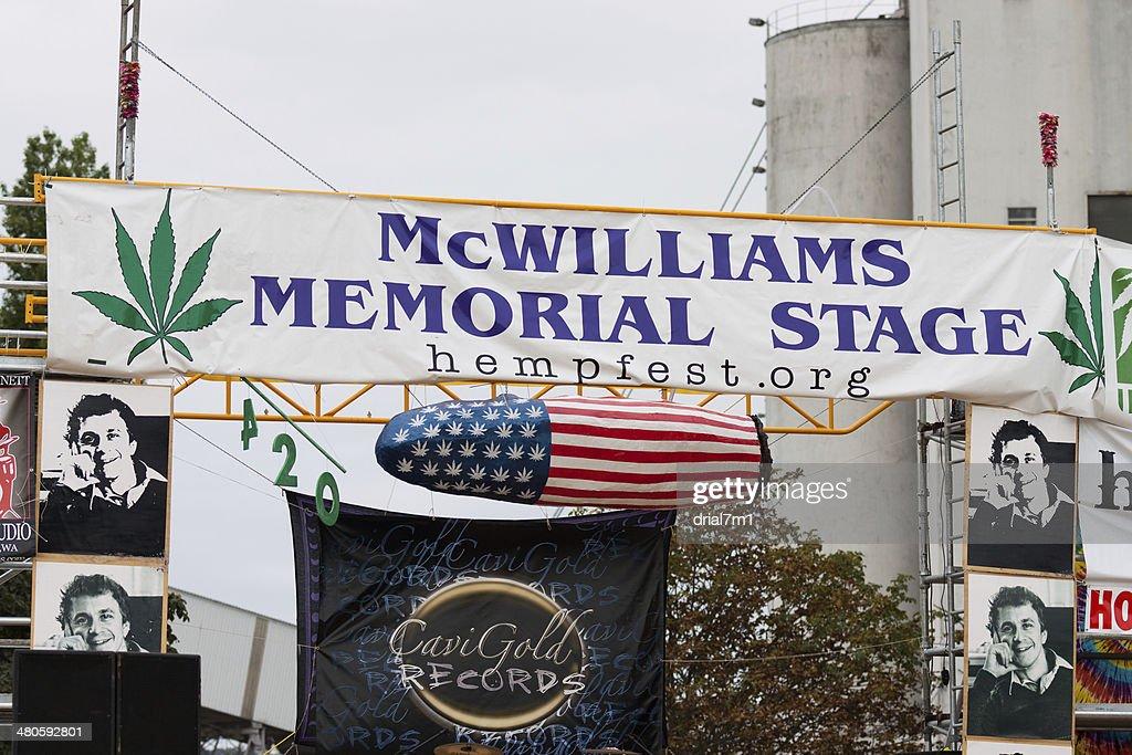 Seattle Hempfest Stage 8/19/12 : Stock Photo