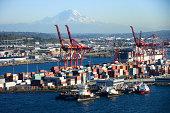 Seattle industrial harbor