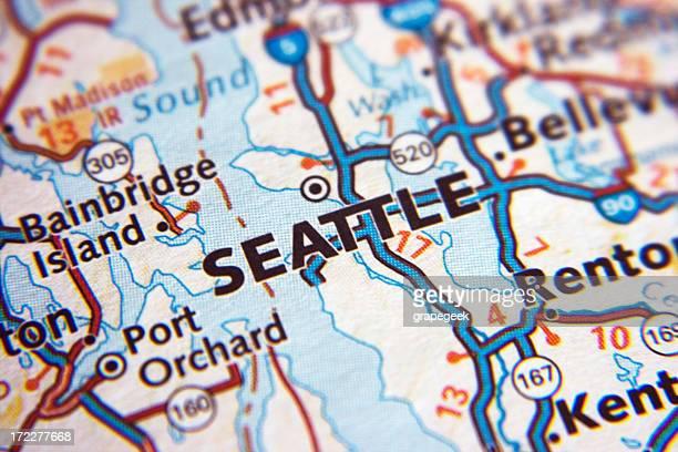 Seattle map closeup