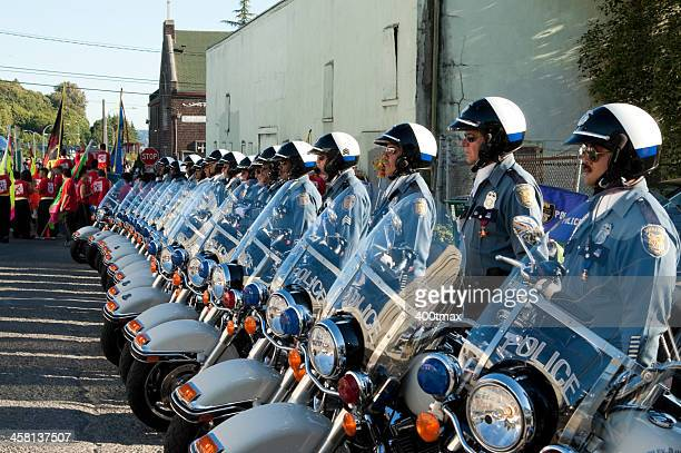 Seattle Police Officers Motorcycle Unit