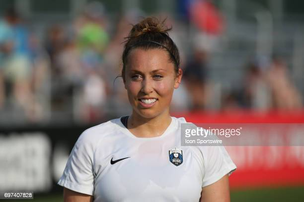 Seattle Reign FC defender Carson Pickett before an NWSL match between the Seattle Reign FC and FC Kansas City on June 17 2017 at Children's Mercy...