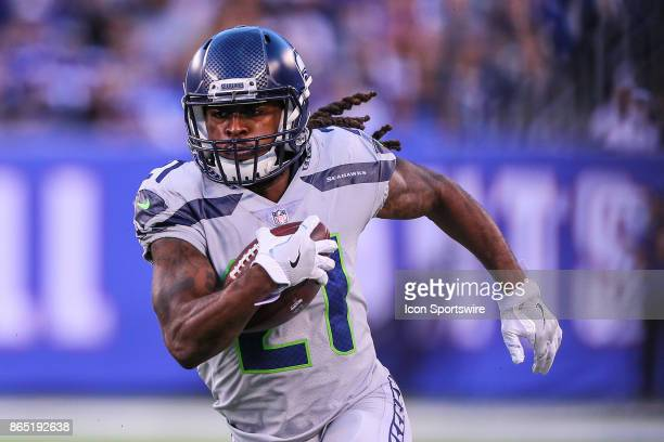 Seattle Seahawks cornerback DeAndre Elliott runs during the National Football League game between the New York Giants and the Seattle Seahawks on...