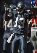 Seattle Seahawks receiver Deion Branch celebrates during 4230 victory over the New York Giants at Qwest Field in Seattle Wash on Sunday Septebmber 24...