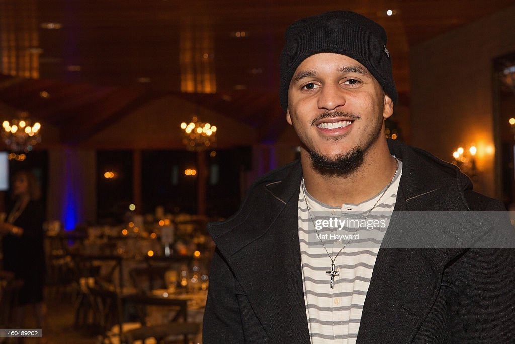 Seattle Seahawks Wide Reciever <a gi-track='captionPersonalityLinkClicked' href=/galleries/search?phrase=Jermaine+Kearse&family=editorial&specificpeople=5516767 ng-click='$event.stopPropagation()'>Jermaine Kearse</a> attends the FAM 1st FAMILY FOUNDATION Charity Event at The Edgewater Hotel on December 14, 2014 in Seattle, Washington.