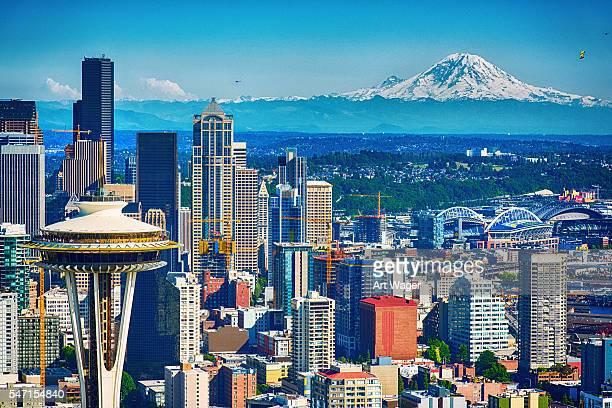 Seattle Skyline Aerial