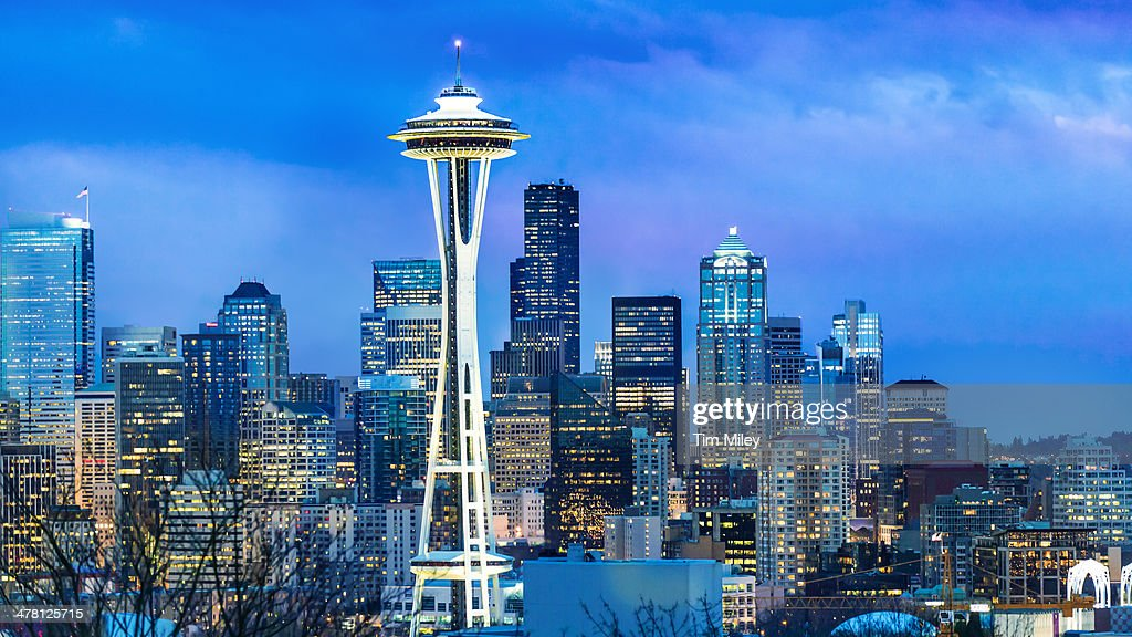 Seattle Skyline Evening