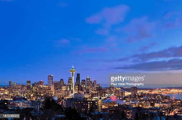 Seattle Skyline with Mt. Rainer