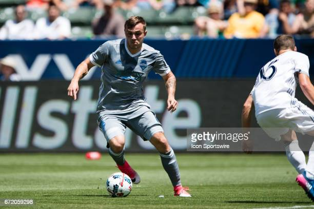 Seattle Sounders forward Jordan Morris during the game between the LA Galaxy and the Seattle Sounders on April 23 at StubHub Center in Carson CA