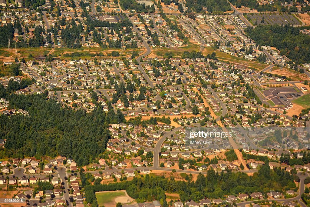 Seattle suburbs, Washington, USA : Stock Photo