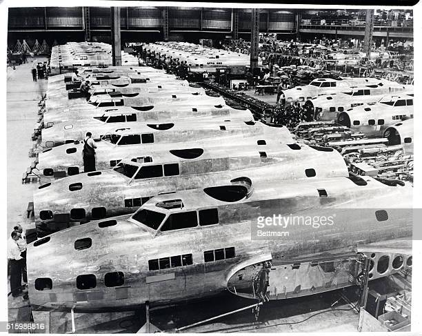 Assembly line Boeing Aircraft Company