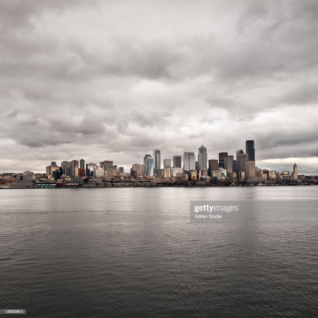 Seattle Winter Skyline : Foto de stock