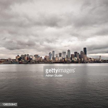 Seattle Winter Skyline : Foto de stock