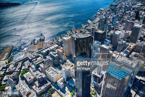 Seattle's Dowtown and Waterfront From the Air