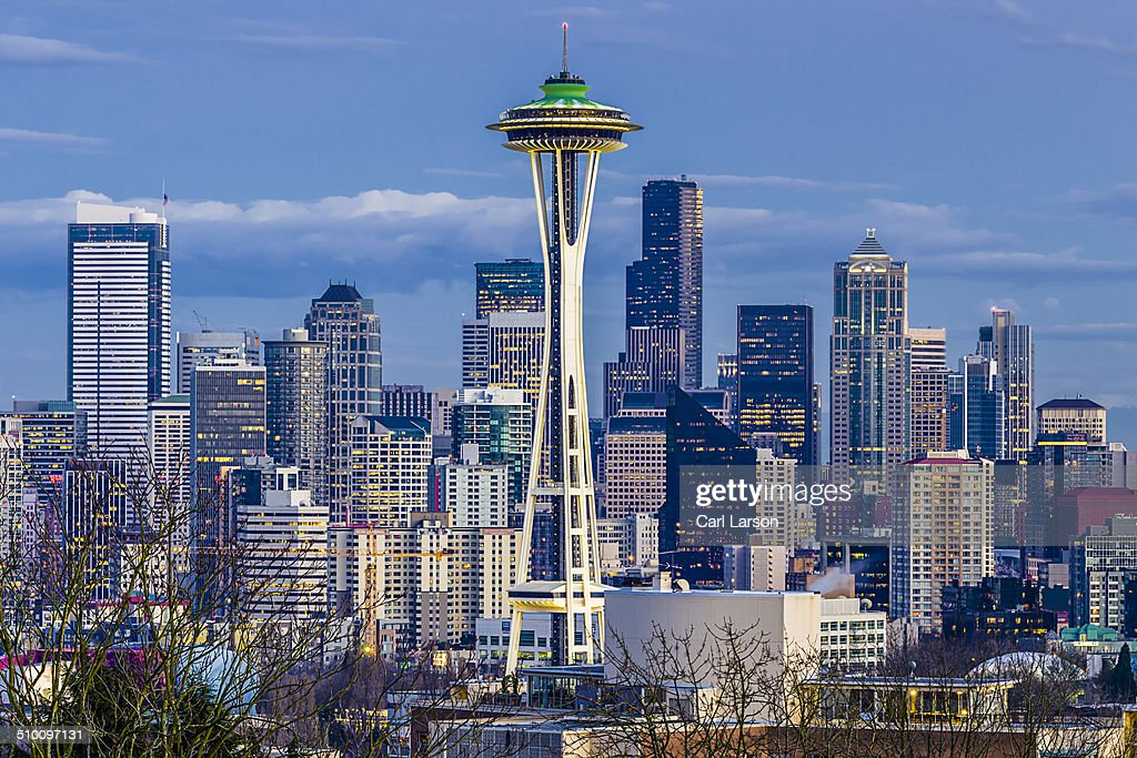 Seattle's Space Needle and the downtown skyline.