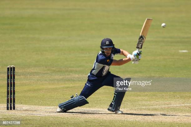 Seb Gotch of the Bushrangers bats during the JLT One Day Cup match between Victoria and Tasmania at WACA on October 4 2017 in Perth Australia