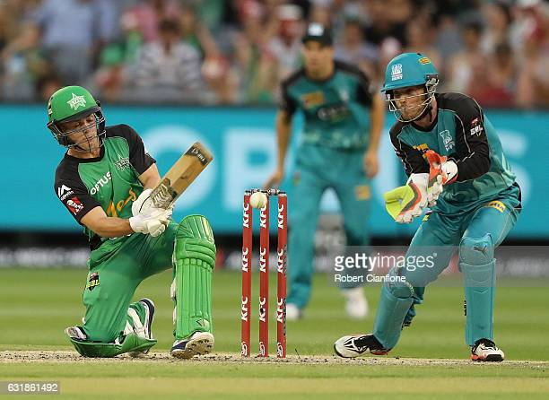 Seb Gotch of the Melbourne Stars bats during the Big Bash League match between the Melbourne Stars and the Brisbane Heat at Melbourne Cricket Ground...