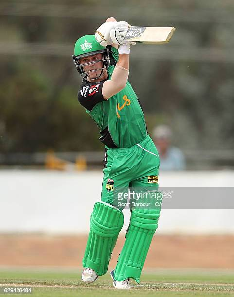 Seb Gotch of the Stars bats during the Twenty20 Border Bash match between the Melbourne Stars and the Sydney Thunder at Lavington Sports Ground on...